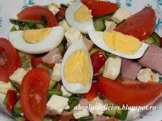 Absolut Delicios: SALATA CU TON Romanian Food, Romanian Recipes, Caprese Salad, Cooking Recipes, Keto, Ethnic Recipes, Anna, Salads, Chef Recipes