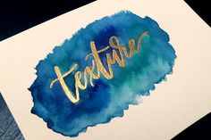 Create Watercolor Lettering with DIY Embossing 3 Ways This week I wanted to have some fun by sharing my method on video of watercolor lettering with DIY embossing. Everything used in the video listed! Watercolor Lettering, Doodle Lettering, Brush Lettering, Watercolor Cards, Watercolor Background, Typography, Lettering Ideas, Lettering Styles, Lettering Tutorial