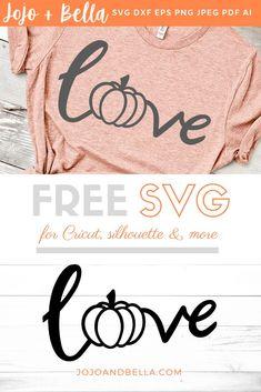 Free Love Pumpkin Svg Jojo & Bella - Fall Shirts - Ideas of Fall Shirts Fall Shirts for sales. Cricut Craft Room, Cricut Vinyl, Cricut Mat, Silhouette Cameo Projects, Silhouette Design, Vinyl Designs, Shirt Designs, Cricut Explore Air, Vinyl Shirts