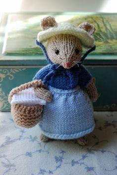 Mouse a maglia ragazza bambola - estate pic-nic