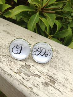 I Do Grooms Wedding Cuff Links Ready to Ship by OverTheMoonBridal