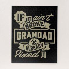Shop Grandad T-shirt and Hoodies Online! Gift for him! Harley Davidson Sportster 883, Harley Davidson Street, Road King Classic, Grandma And Grandpa, Grandparents Day, Shop Signs, Gifts For Him, Online Gift, Jigsaw Puzzles