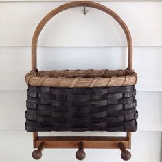 Joanna's Collections Pegged Key Basket (black walnut stain)