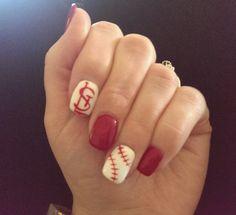 Go cardinals! #baseball #cardinals #nail art