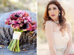 Beautiful Pomegranate bridal spread with all lace jewelry by Edera Jewelry.