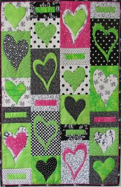 Combine applique and pieced blocks.