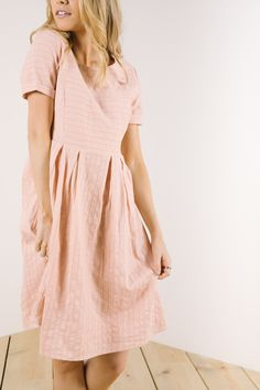 22b6844b9bc0 The Heirloom Dress in Dusty Rose