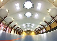 Fynshav Sports Hall Vaulted fabric Ceiling