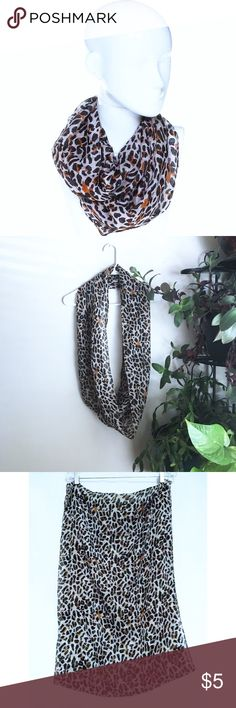 """Cheetah print infinity scarf *Size: Width: 21"""" Length: 27""""* -Mesh fabric -Beautiful vibrant print -Pairs well with any solid colored top/jacket OPI Accessories Scarves & Wraps"""