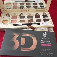 Bundle of two 3D fiber lashes mascara by younique & nude tude eyeshadow palette.Brand new Makeup Eyeshadow