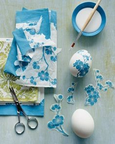 DIY Decoupage Easter Eggs