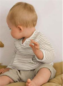 Babies Knitting Patterns Sweater  Shorts Pattern