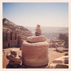 Cairns and the Ad-Deir (monastery), Petra. #JO #Jordan #Amman #Travel #Photography