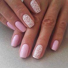 Pink Wedding Nail Art Ideas
