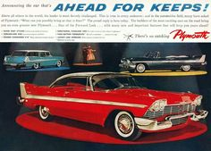 """Announcing a car that's Ahead for Keeps, 1958 Plymouth"""