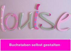 Buchstaben zum Selbstverwirklichen  von PAULSBECK Buchstaben, Dekoration & Geschenke auf DaWanda.com