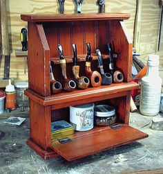 Two Cousins Pipe Rack                                                                                                                                                                                 More Tobacco Pipe Smoking, Cigar Smoking, Tobacco Pipes, Smoking Pipes, Smoking Wood, Cigars And Whiskey, Pipes And Cigars, Pipe Rack, Cool Pipes