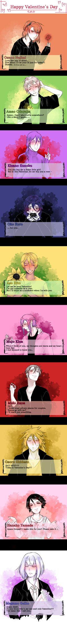 Happy Valentine's Day by violetleegee on DeviantArt Yandere Manga, Yandere Boy, Animes Yandere, Anime Chibi, Anime Meme, Yandere Simulator Characters, Yandere Simulator Memes, Yendere Simulator, Ayano X Budo