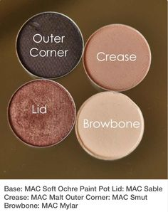 Soft pinks and cool browns Mac Eyeshadow Looks, How To Eyeshadow, Mac Cosmetics Eyeshadow, Mac Eyeshadow Swatches, Mac Eye Makeup, Eyeshadow For Green Eyes, Best Mac Makeup, Mac Makeup Looks, Eyeshadows