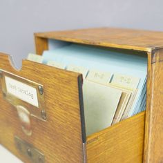 Do we have a single card file box? If so, maybe we could convert that?