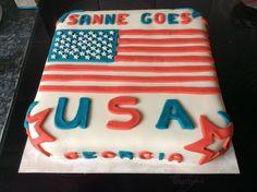 American flag cake Amerikaanse vlag taart