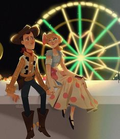 Woody and Bo (Toy Story (c) 2019 Pixar Animation Studios & Walt Disney Studios Disney Toys, Disney Cartoons, Disney Movies, Disney Characters, Disney And Dreamworks, Disney Pixar, Walt Disney, Desenho Toy Story, Dibujos Toy Story