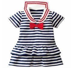 Baby Girl Nautical Stripe Dress