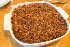 Ma's Sweet Potato Casserole w/ Crunchy Praline Topping