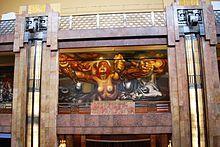 Mexico City - Wikipedia, the free encyclopedia. Mural in the Palacio de Bellas Artes by David Alfaro Siqueiros