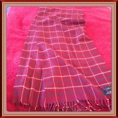 """Striped Burgundy Scarf Striped burgundy scarf by Cashmink of W Germany. Measures: 52"""" long x 12"""" wide. 100% acrylic NWOT Never used. ⬇Reduced on 9/28 from 15 to 13 for CCO⬇No trades Cashmink  Accessories Scarves & Wraps"""