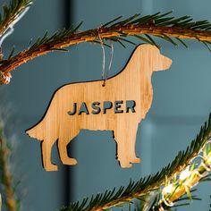 Bamboo Personalised Pet Christmas Decoration