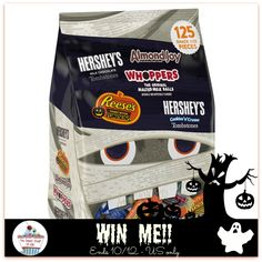 What is Halloween without Chocolate?? I know my family would eat this bag in a few days- would yours? No Halloween season is complete without Hershey's classic assortment of sweet treats. Assortment includes Hershey's Milk Chocolate Tombstones,...