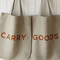 Carry Goods 100% Linen Bag (Natural) lino