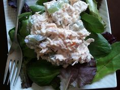 Pickled Watermelon Rind Chicken Salad - that's what's for lunch at my house today. (Thanks for the pickled watermelon rind, Barb! Pickled Watermelon Rind, Watermelon Pickles, Whats For Lunch, Chicken Salad, Cabbage, Salads, Vegetables, Food, House