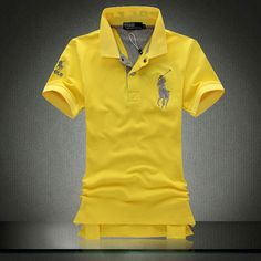 Ralph Lauren Men Red Soft Yellow Big Pony 2 Polo