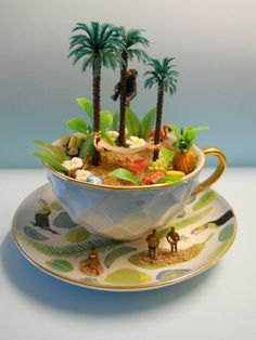 'TouCaN PLaY aT THiS'  TEaCuP Diorama  ____byLoveHarriet @ www.lilyanddot.com.au