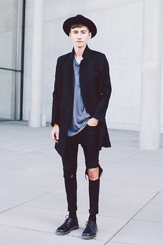 Christoph Schaller - Cos Coat, Acne Studios Tee, Topshop Jeans, Dr. Martens Doc, Borsalino Hat - I CAN FEEL YOUR HEART BEATING