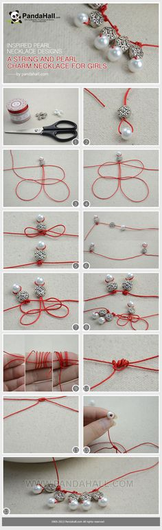 Make this creative charm necklace for girls in a few easy steps. An actually fantastic way to update the traditional pearl necklace designs as well as multiple the color to your spring and summer outfit!