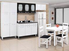 Gente, olha essa mesa com 4 cadeiras que linda e está com desconto! http://maga.lu/Z8SS0e