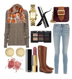 """""""Autumnal Colors"""" by laurenew29 ❤ liked on Polyvore featuring ATM by Anthony Thomas Melillo, Tory Burch, Alexander Wang, Burberry, Marc by Marc Jacobs, Chanel and NARS Cosmetics"""