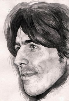 George Harrison, gouache sketch by Charlie James Art, via Flickr