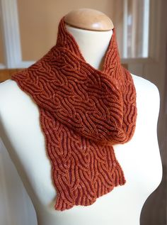 Cinnabar Brioche Scarf By Nancy Marchant - Purchased Knitted Pattern - (ravelry)