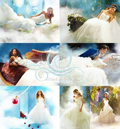Disney Princess wedding dresses!!