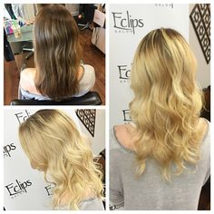 Eclips stylist Mallory gave her little sister a beautiful rooted extension while maintaining the healthy integrity of her hair! Thank you, Sadie.  Reserve now for your fresh blonde at (703) 327-9408 or visit http://eclipsashburn.com