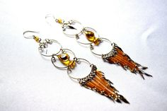 Long Peruvian Chandelier Earrings Sky Blue and by SassyandCool