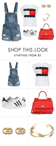"""1990s"" by stylebyshannonk ❤ liked on Polyvore featuring Tommy Hilfiger, adidas, Dolce&Gabbana and Gucci"