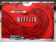 Netflix Envelope Doodles. I suddenly wish I still got DVD by Mail.