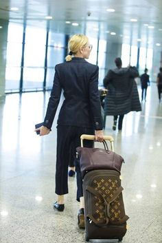 Louis Vuitton's new drop of Marc Newson-designed luggage has been toted by Alicia Vikander, Cate Blanchett and Léa Seydoux. Celebrity Airport Style, Celebrity Travel, Jaden Smith, Alicia Vikander, Joe Jonas, Will Turner, Cate Blanchett, Sophie Turner, Julia Hobbs