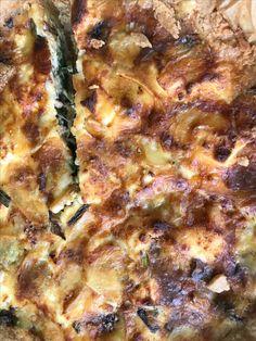 Quiche met snijbiet, lente-ui en kaas (blz 101 Veggie)