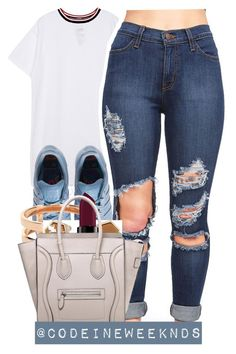 """1/21/16"" by codeineweeknds ❤ liked on Polyvore featuring adidas, Repossi, Topshop, Smashbox and CÉLINE"